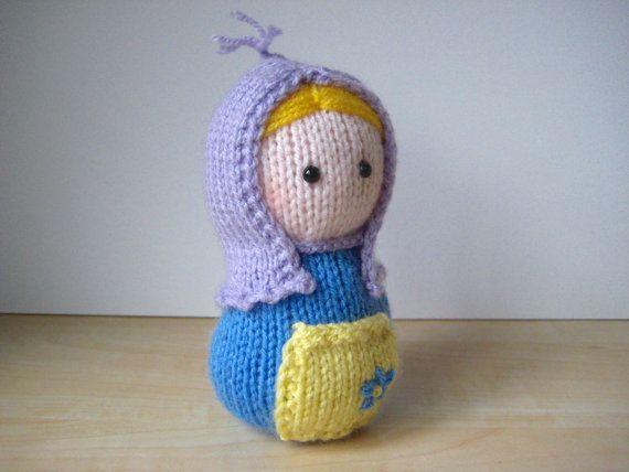 Matryoshka toy doll knitting pattern by fluffandfuzz on ...