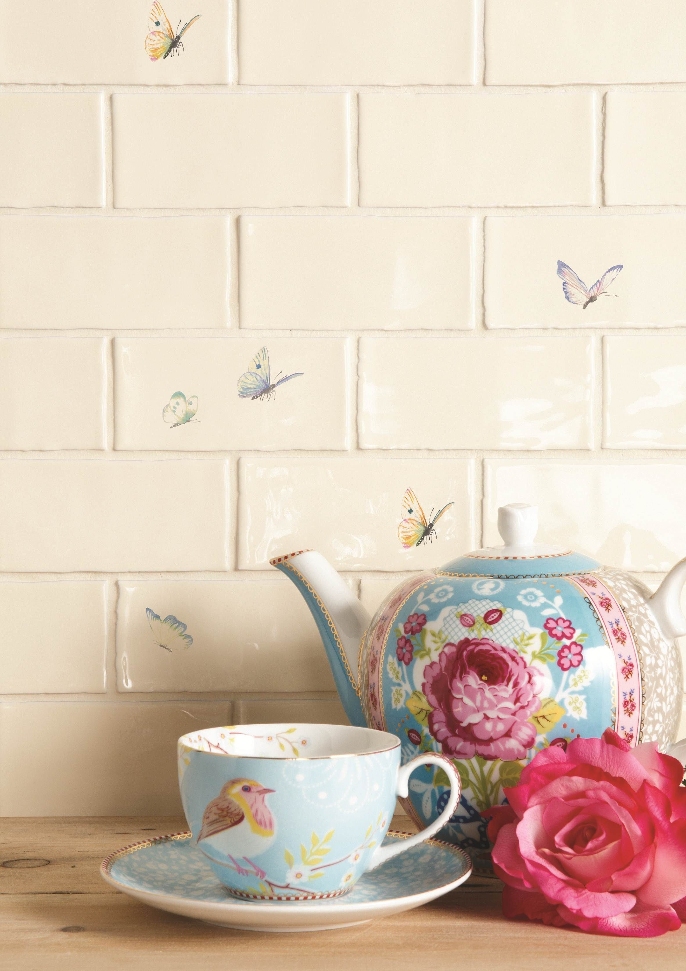 Bring the natural world into your home with this delicate bring the natural world into your home with this delicate colourful butterfly tiles available dailygadgetfo Choice Image