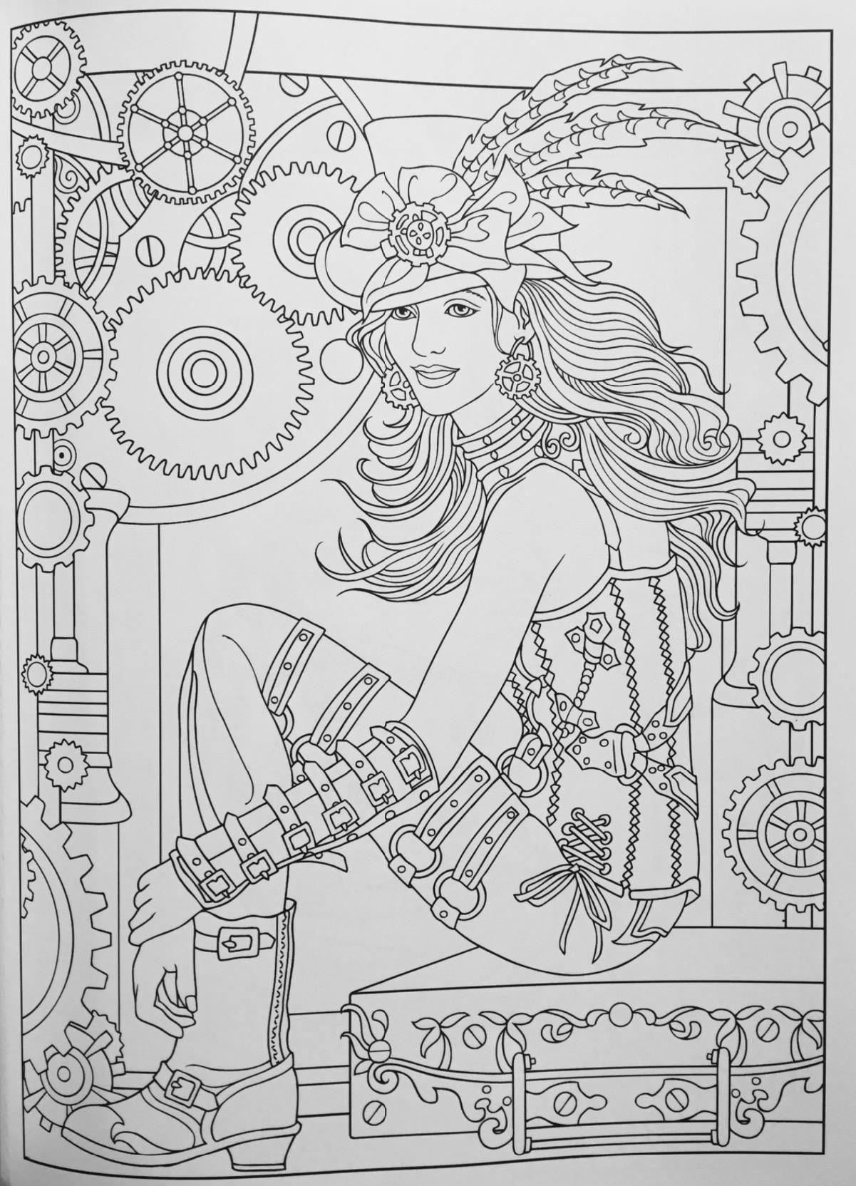 Robot Check Steampunk Coloring Coloring Pages Coloring Books