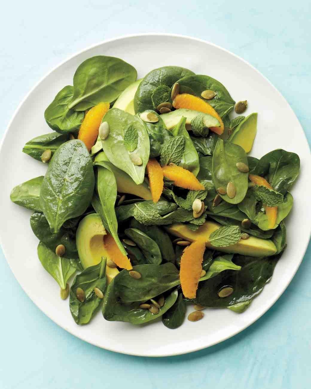 Spinach and Avocado Salad, Courtesy: www.marthastewart.com