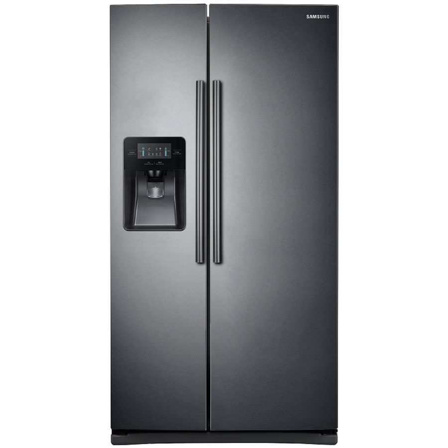 Samsung cu ft sidebyside refrigerator with ice maker black