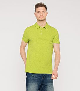 Poloshirt in der Farbe hellgrün bei C&A