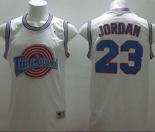 ef1082e0d Bulls  23 Michael Jordan White Tune Squad Stitched NBA Jersey