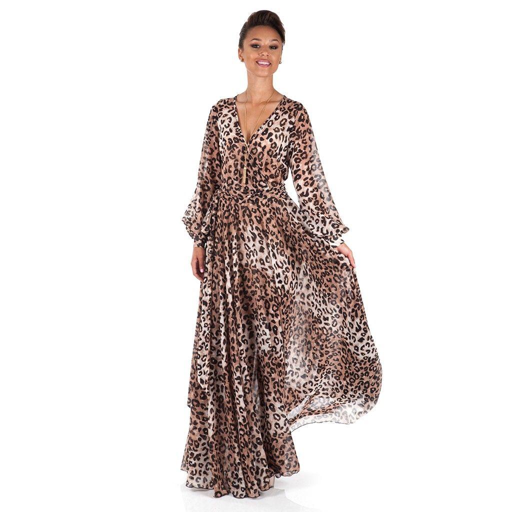 Leopard Print Maxi Dress www.shoxie.com | Maxi Dresses | Pinterest ...