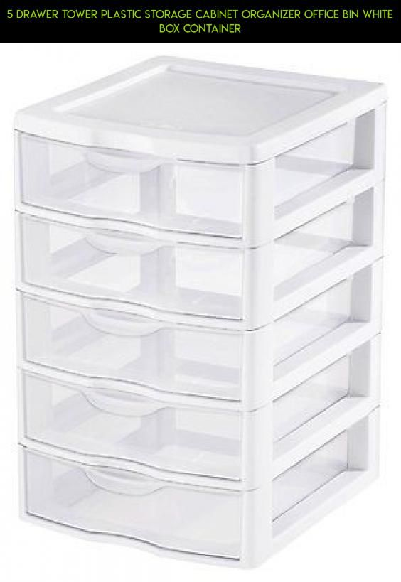 5 Drawer Plastic Storage Part - 22: 5 Drawer Tower Plastic Storage Cabinet Organizer Office Bin White Box  Container #shopping #camera