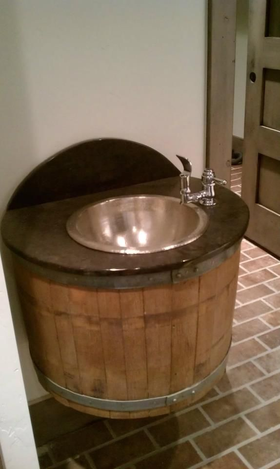 This Is A Barrel Drinking Fountain That We Installed In One Of The Custom Homes We Did For The
