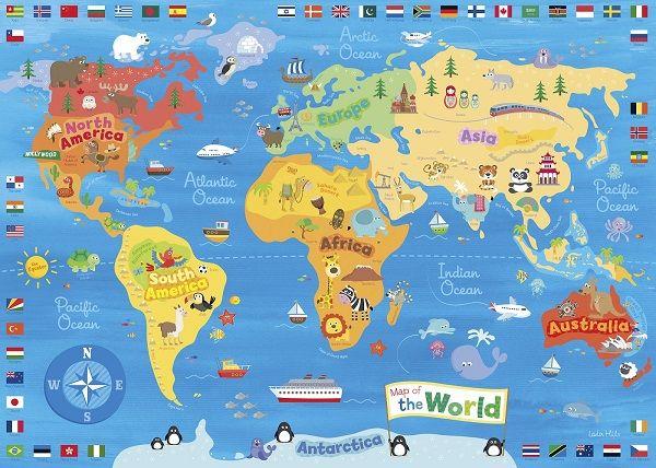 Mapa Del Mundo Paises Para Imprimir.Mapas Del Mundo Ninos Mapas Del Mundo Mapa Mural Del