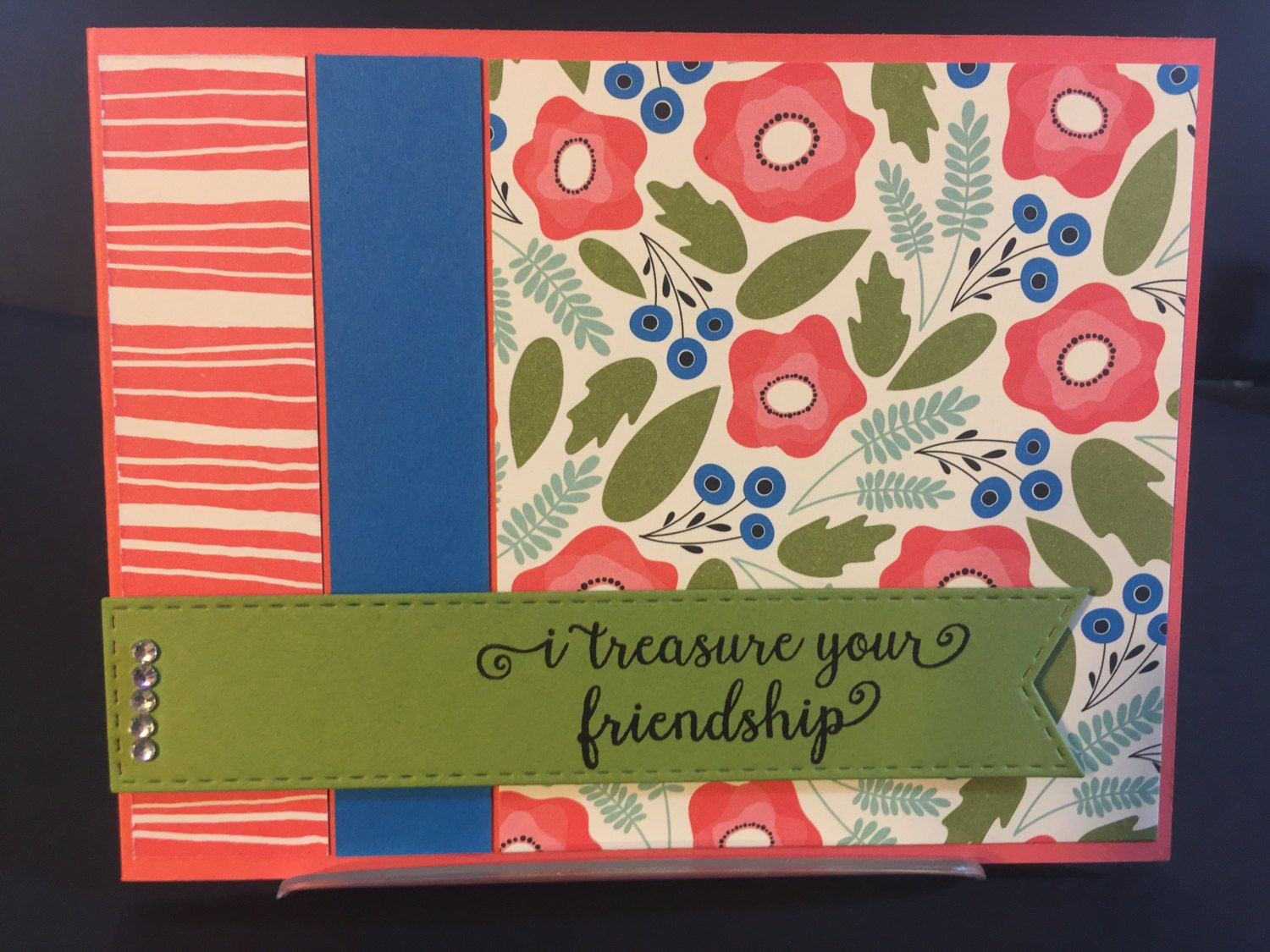 Friendship handmade greeting card by tlccreationscanada on etsy