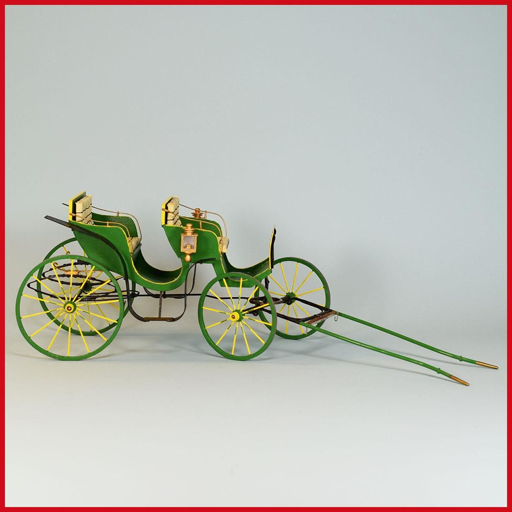 Horse And Carriage Miniature Dollhouse Picture