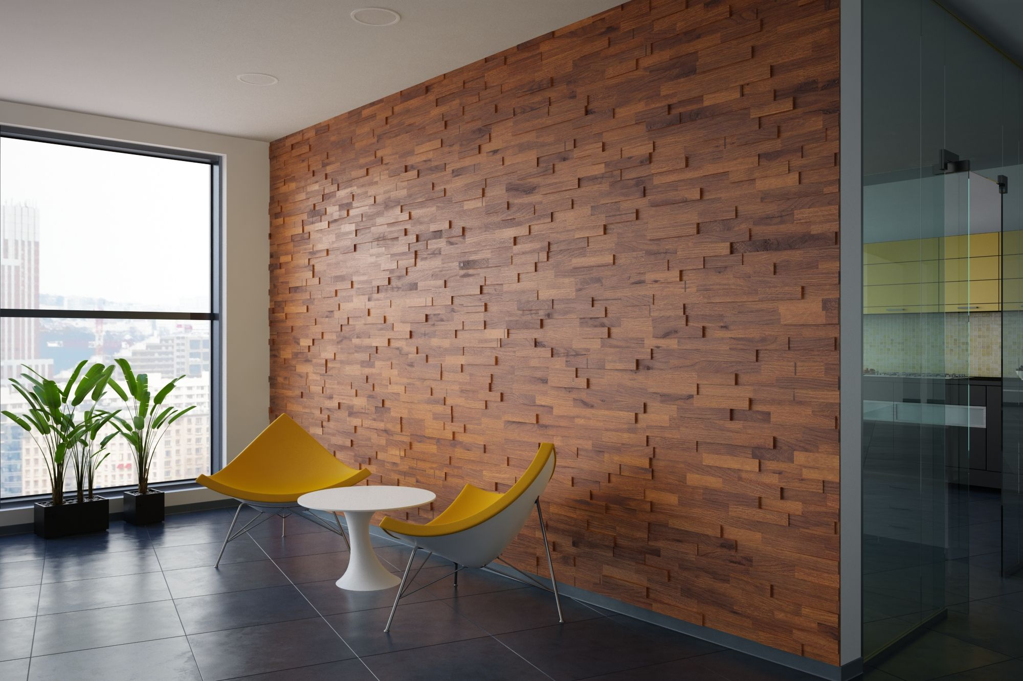 Mosaic Real Wood Panels Provide A Rich And Elegant Wall