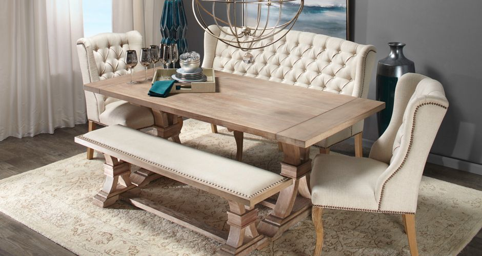 Inspired by this Get The Look Neutral Territory Dining Room look on
