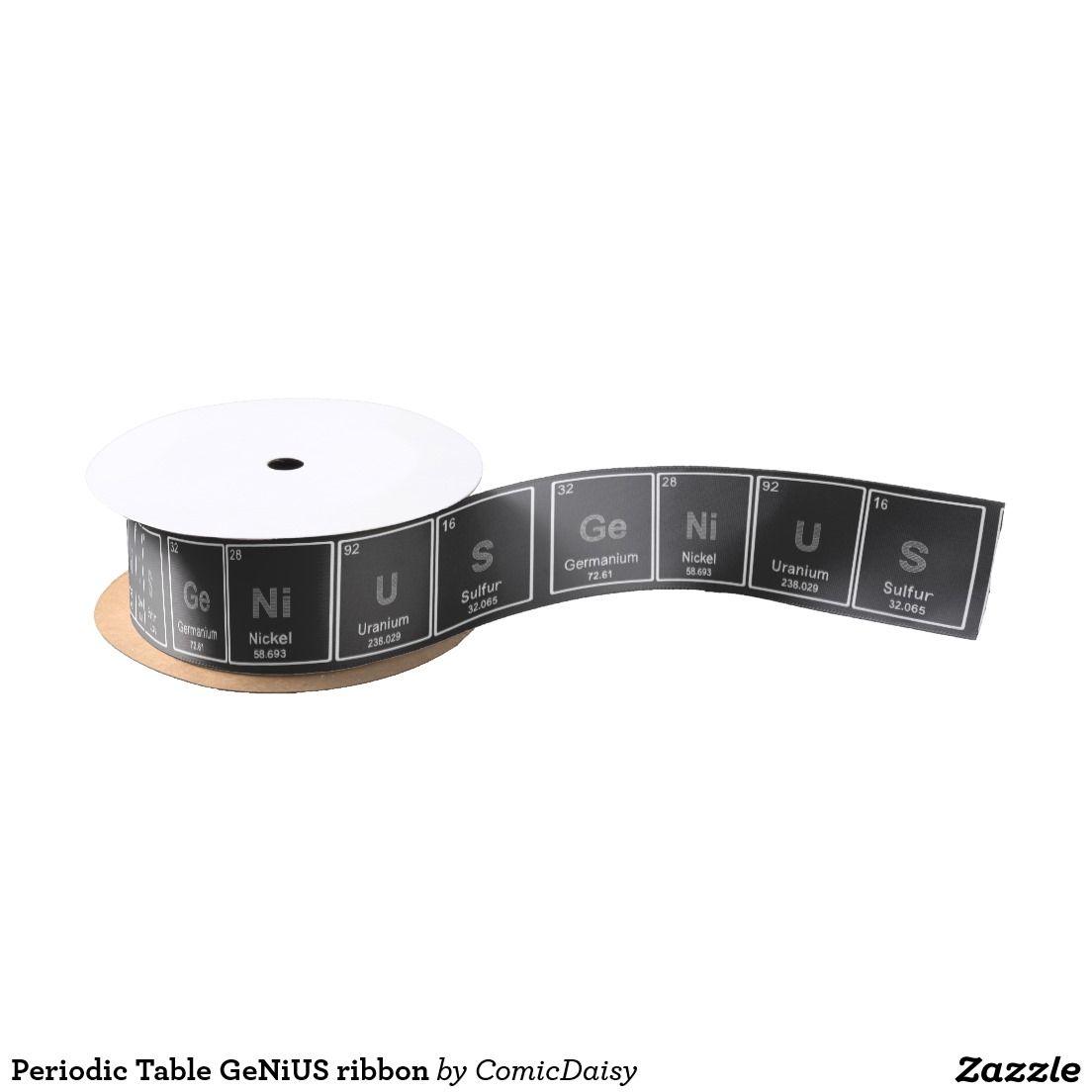 Periodic Table Genius Ribbon