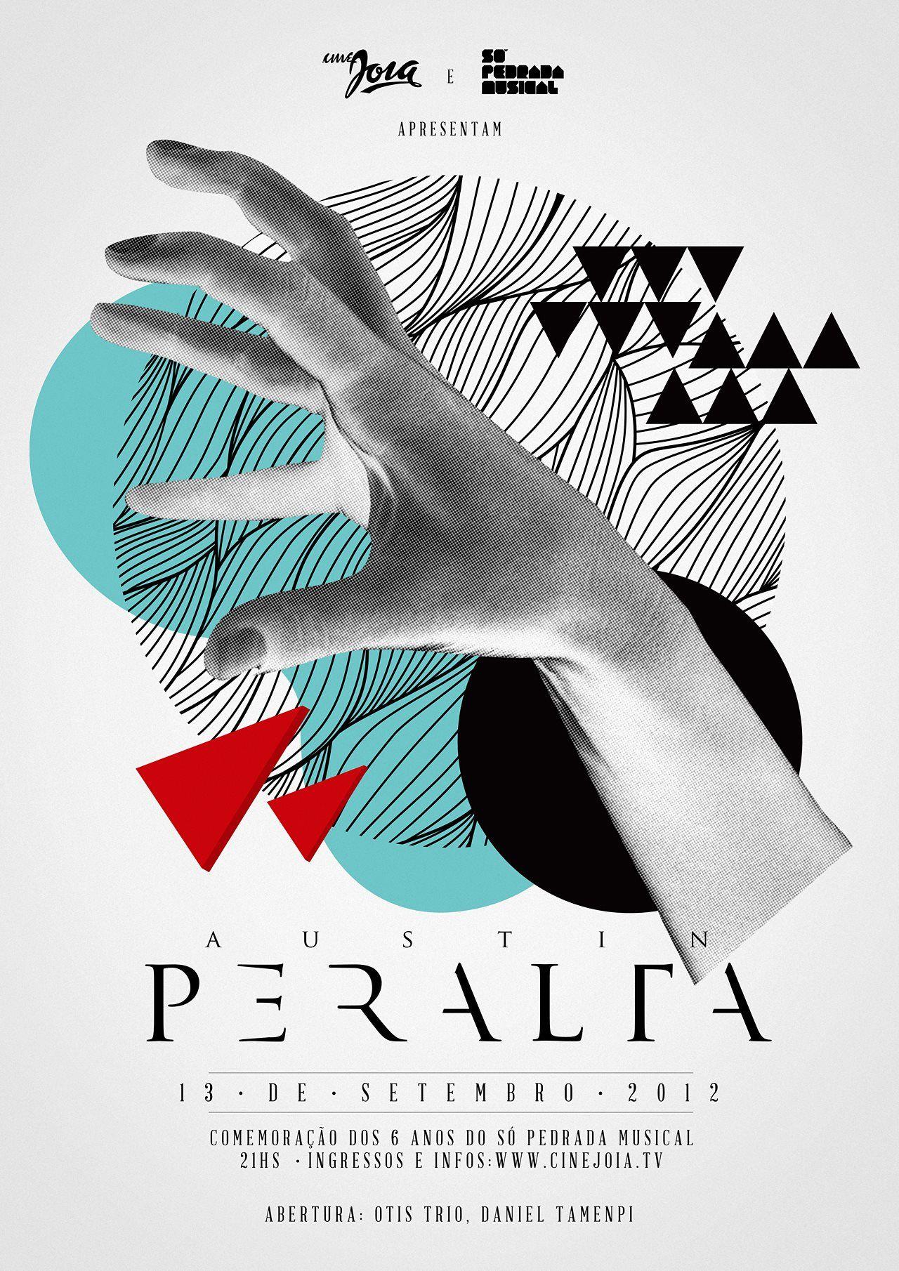 typographic poster design by austin peralta