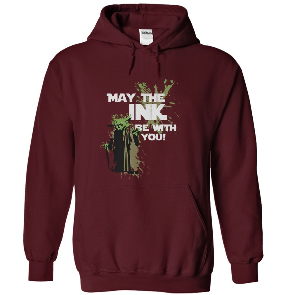 May the Ink be With You!  T-Shirt & Hoody! #StarWars #Jedi #tshirt #tattoo #coffee #books