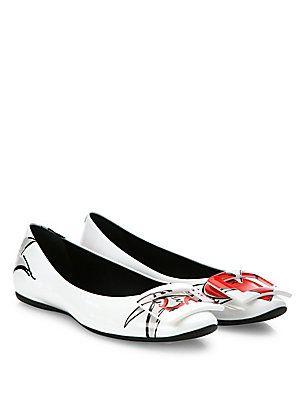 Roger Vivier - Gommette Love Tattoo Patent Leather Ballet Flats