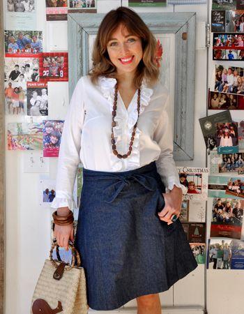 a perfect denim wrap skirt....luvs it!   sense of style ...