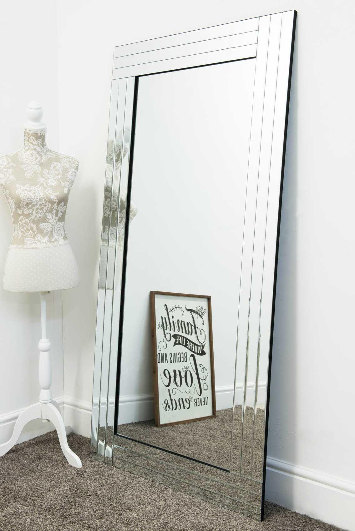 Lapford Large Glass Mirror 174x85cm | Mirror wall living ...