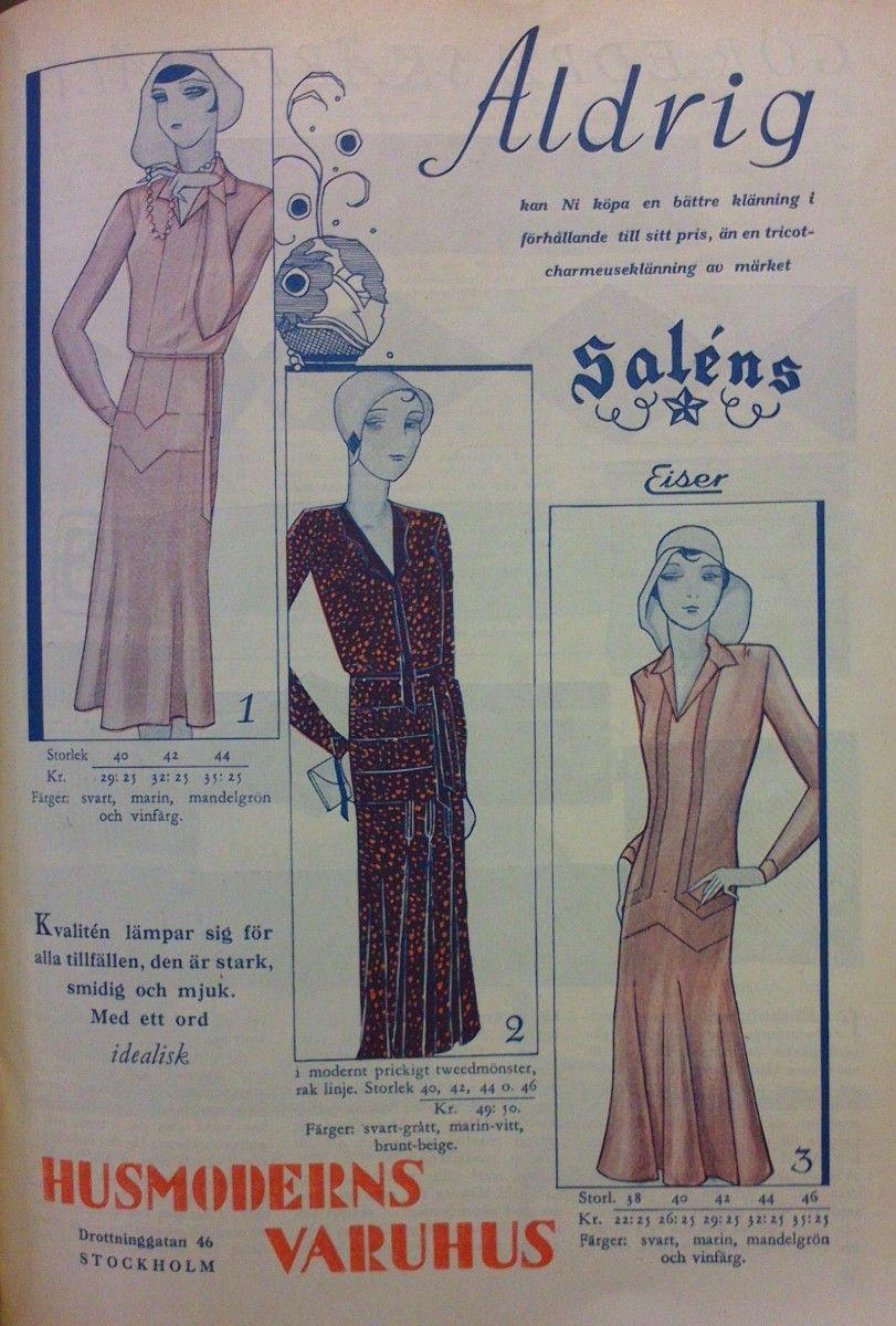 Husmodern, the Swedish women\'s magazine, had their own department ...