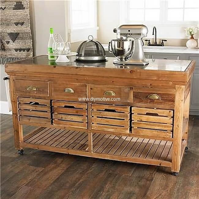 Best And Easy Wood Pallet Reshaping Ideas | Muebles de cocina ...