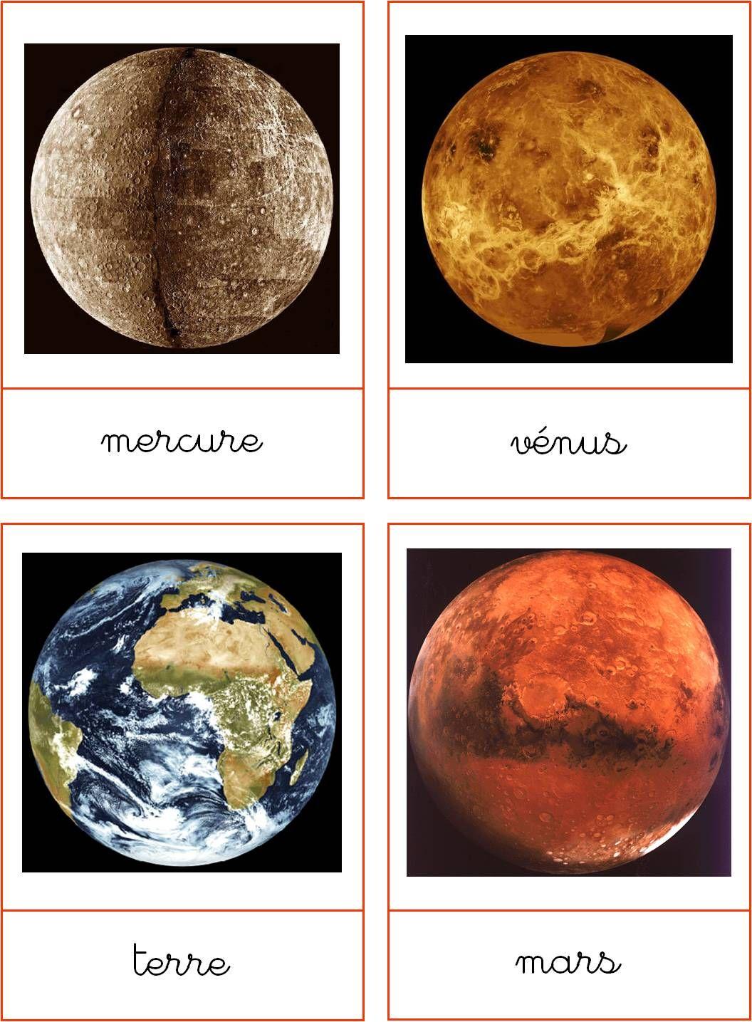 Die 8 Planeten. Schön zum Ausdrucken. Größenverhältnisse anpassen ...