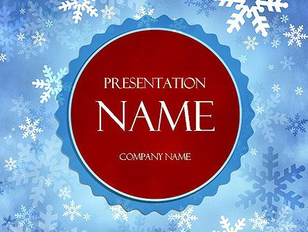 wwwpptstar/powerpoint/template/snowflakes-theme - winter powerpoint template