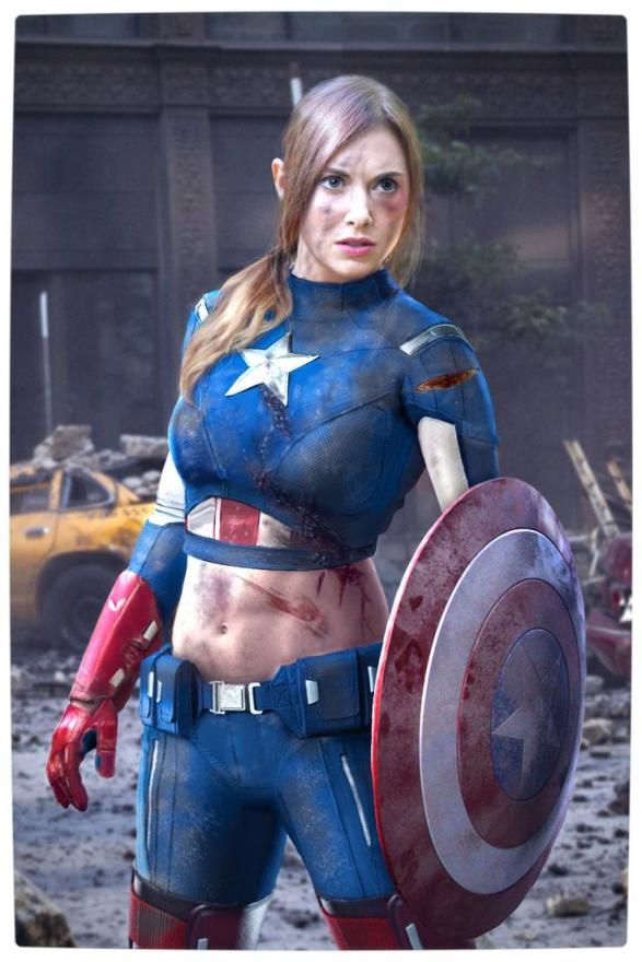 costume cosplay captain Female america