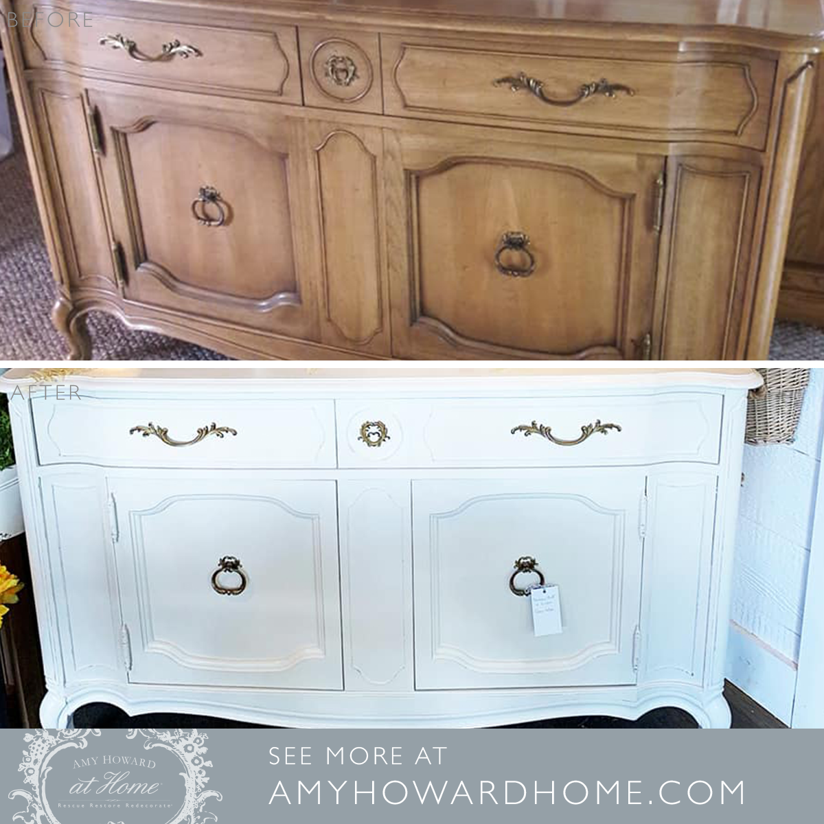 Amy Howard At Home Customer Kellie Hoff Created This Statement Piece With A Custom Mix Of Bauhaus Buff And L Refinishing Furniture Diy Amy Howard Diy Furniture