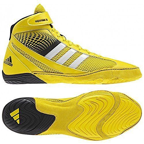 hot sale online fe671 d2819 Adidas Response 3.1 Wrestling Shoes - Bright Yellow Silver Black - 12 via   pipilihstores