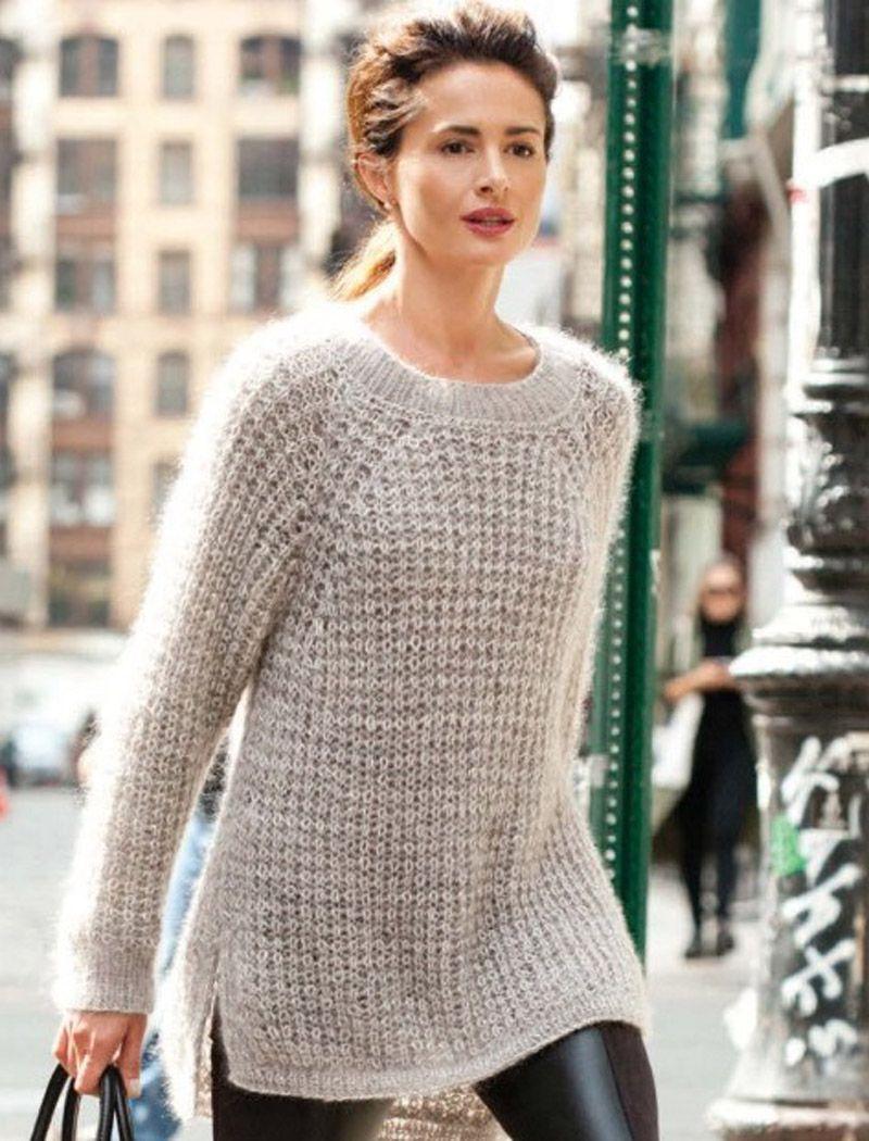картинки по запросу вязание свитера спицами из травки для женщин