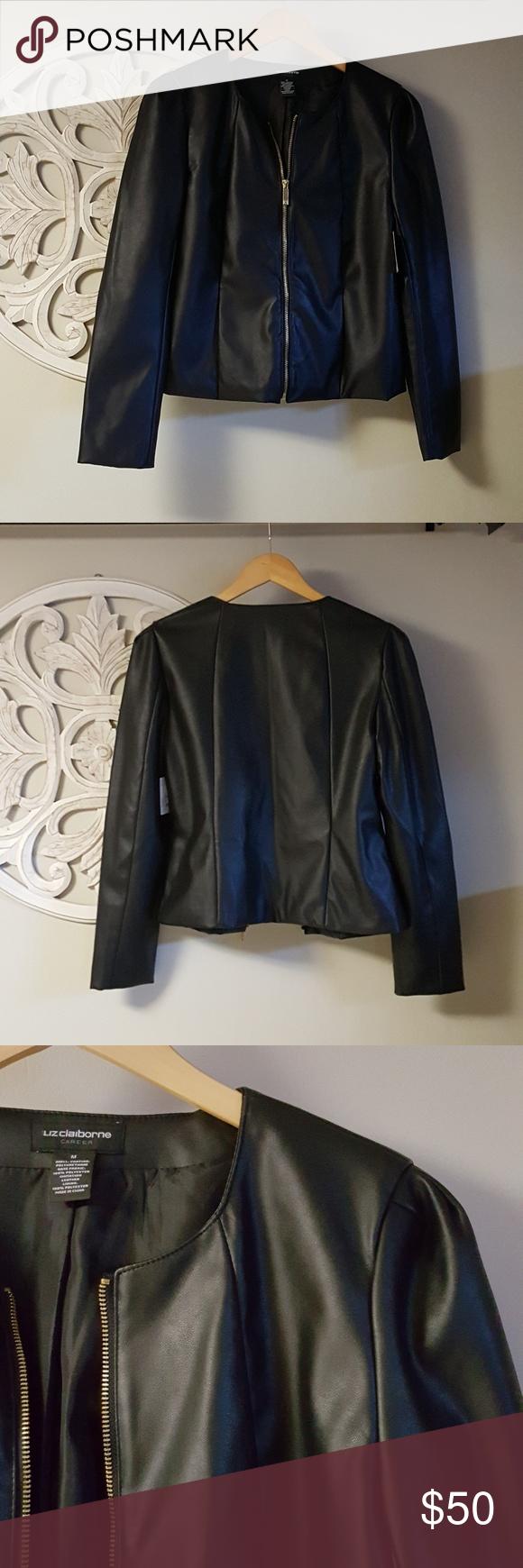Faux Leather Jacket With Shoulder Detail Faux Leather Jackets Leather Jacket Black Faux Leather Jacket