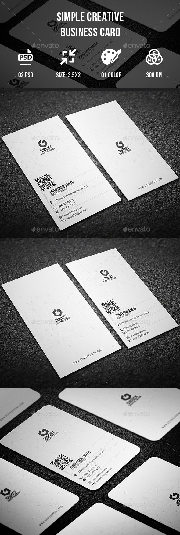 Simple Creative Business Card | Pinterest | Business cards ...