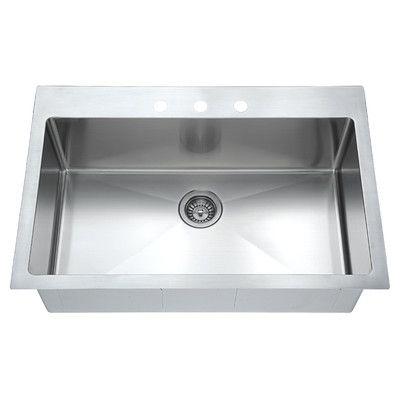 Dawn usa top mount 33 x 22 single drop in kitchen sink sinks dawn usa top mount 33 x 22 single drop in kitchen sink workwithnaturefo