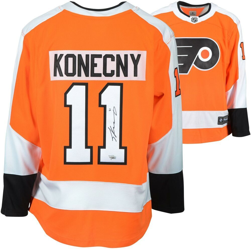 Travis Konecny Philadelphia Flyers Autographed Orange Fanatics Breakaway  Jersey e4bf201f8