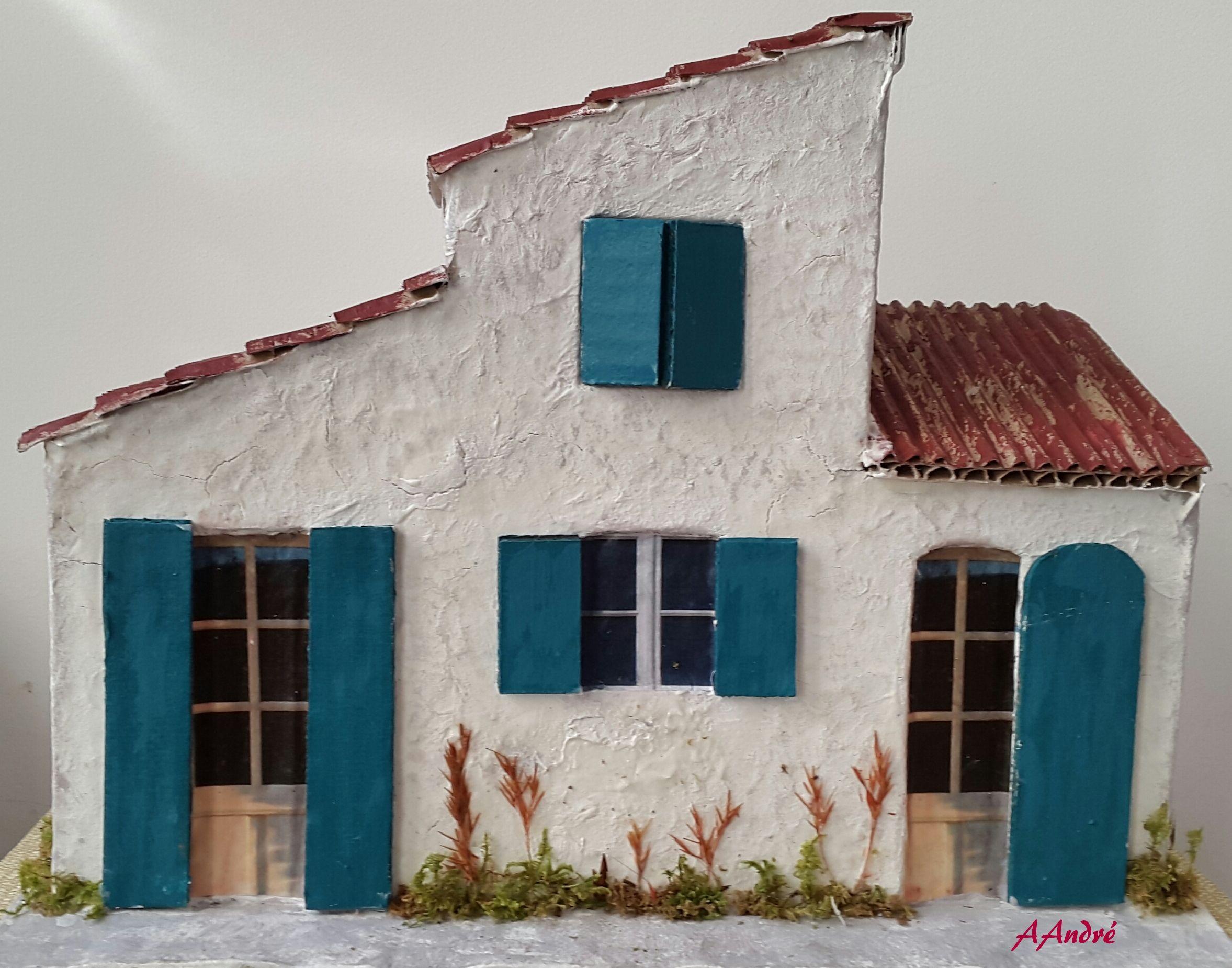 maison de village pour la cr che de no l en carton ondul creche maisons pinterest carton. Black Bedroom Furniture Sets. Home Design Ideas