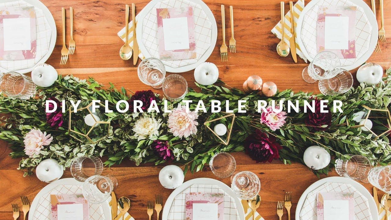 DIY Floral Table Runner - YouTube in 2019 | Table runners ...