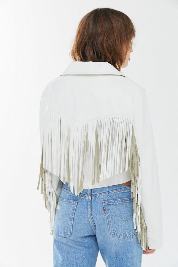 UO Mira Fringe Faux Leather Jacket in 2020 Fringe