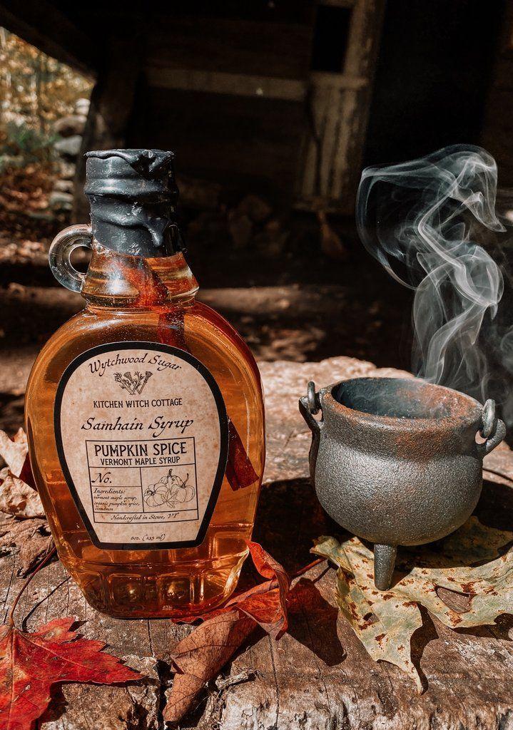 Samhain Syrup- WytchWood Sugar 8oz Pumpkin Spice #samhainrecipes
