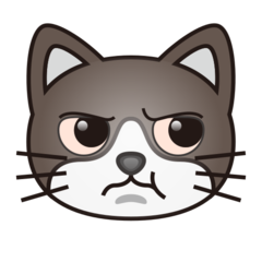 Pouting Cat Face On Emojidex 1 0 34 Cat Face Drawing Cat Face Annoyed Cat