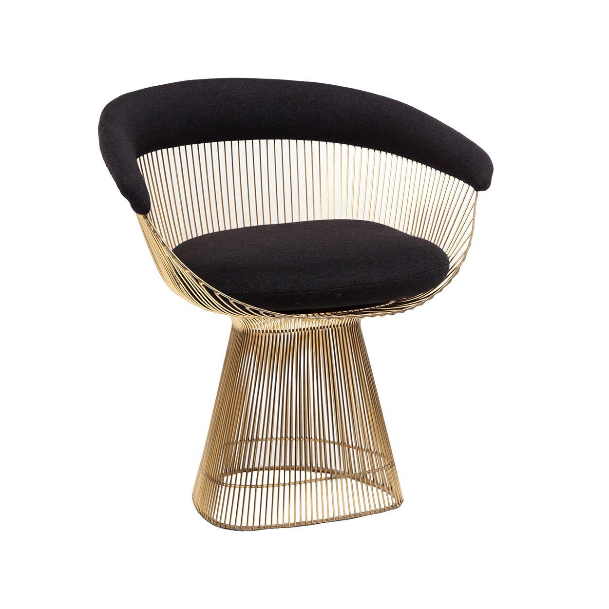 Platner Dining Chair In Gold Mid Century Modern Design