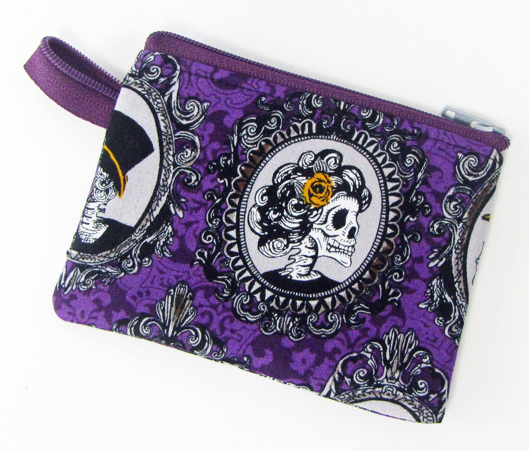 Skulls, credit card case, business card holder, cute coin purse ...