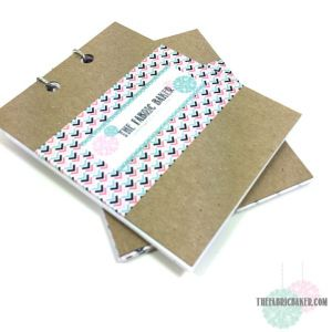 Free Printable Note paper for a mini notepad with binding tutorial