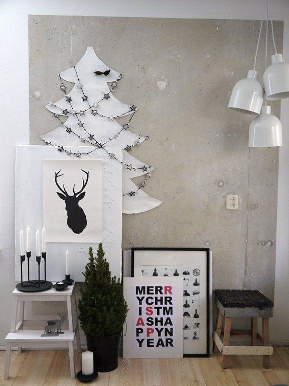 Decoraci n navide a de estilo n rdico minimalista moderna cena navidat pinterest navidad - Decoracion navidena minimalista ...