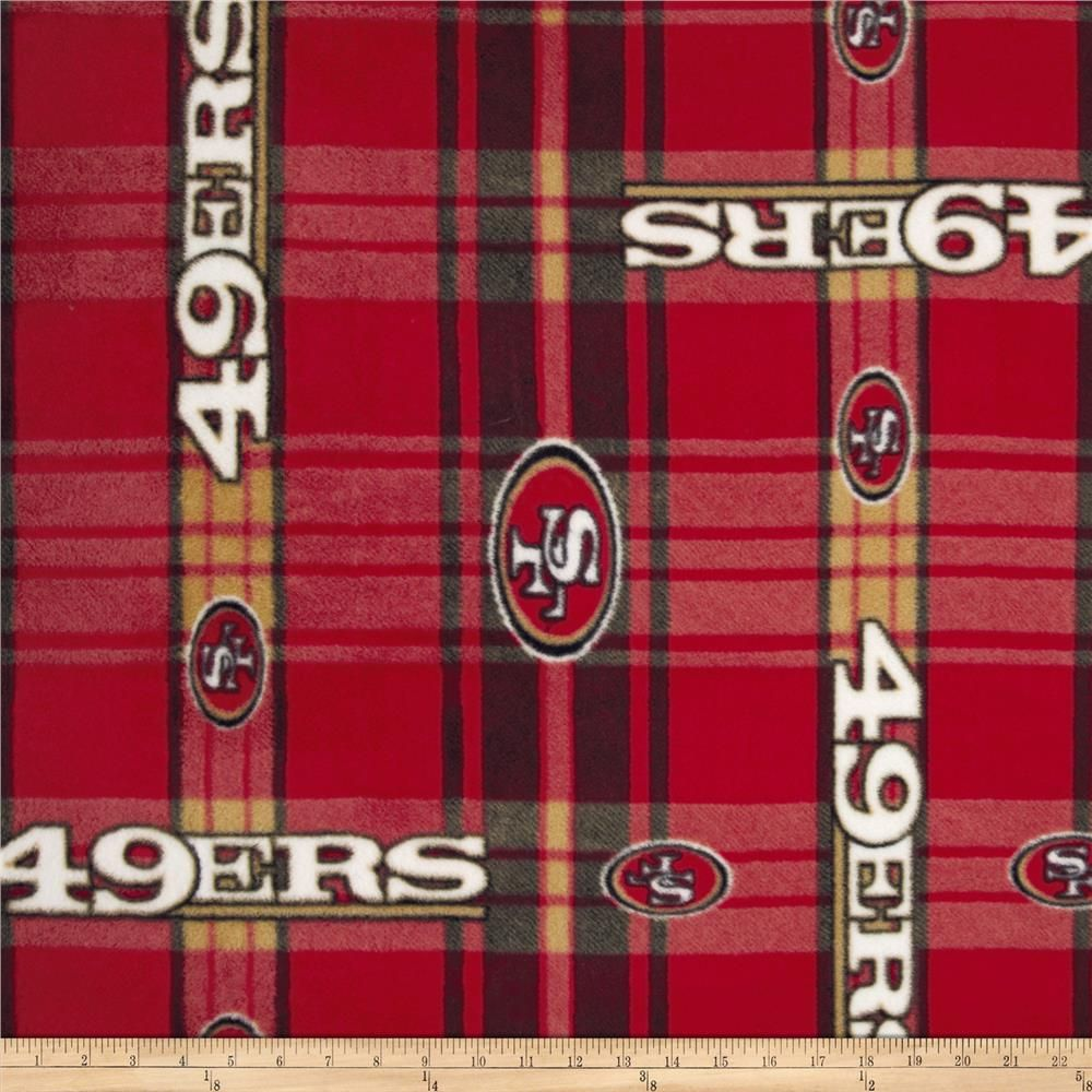 Nfl San Francisco 49ers Plaid Fleece Red Yellow San Francisco