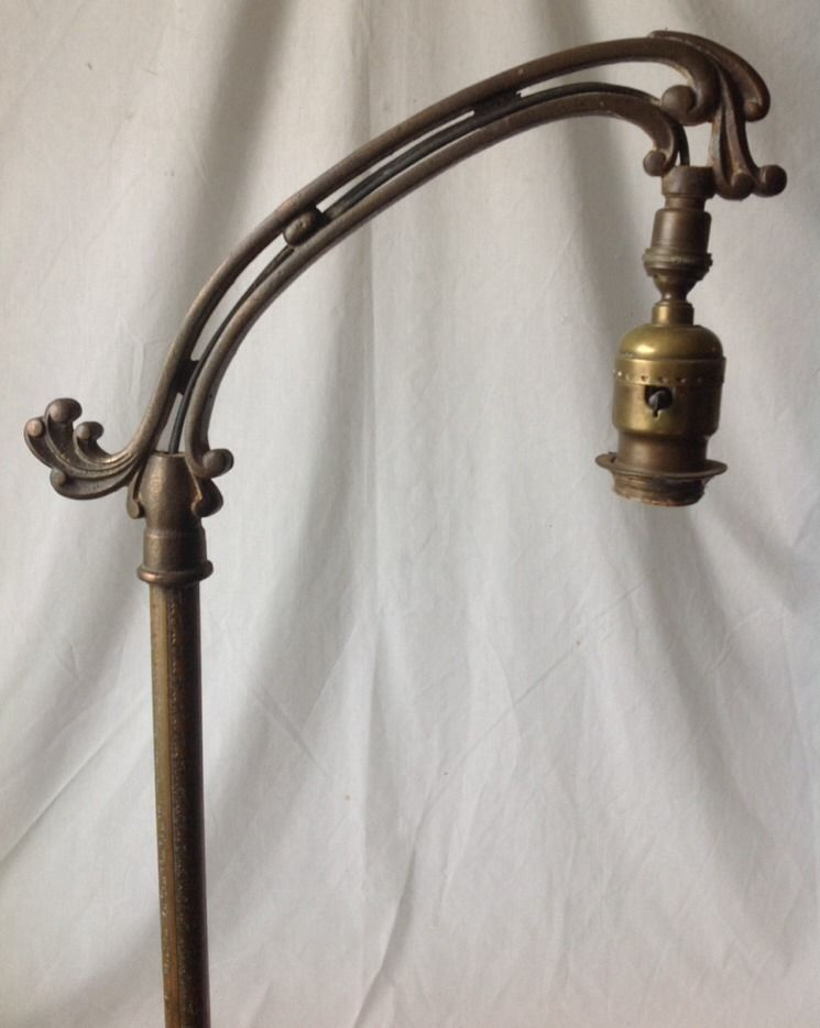 Vintage Rembrandt Bridge Floor Lamp Brass Cast Iron Art
