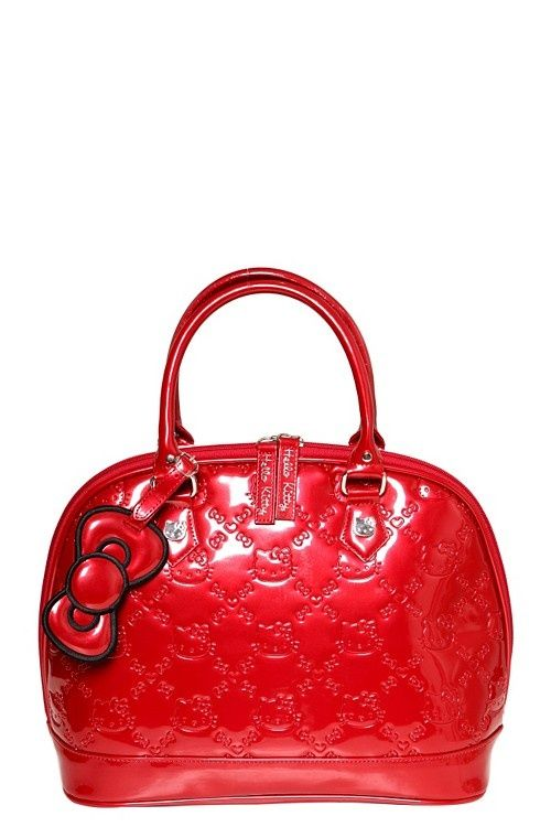 d51f963a67a0 Loungefly - Hello Kitty Red Patent Embossed Bag