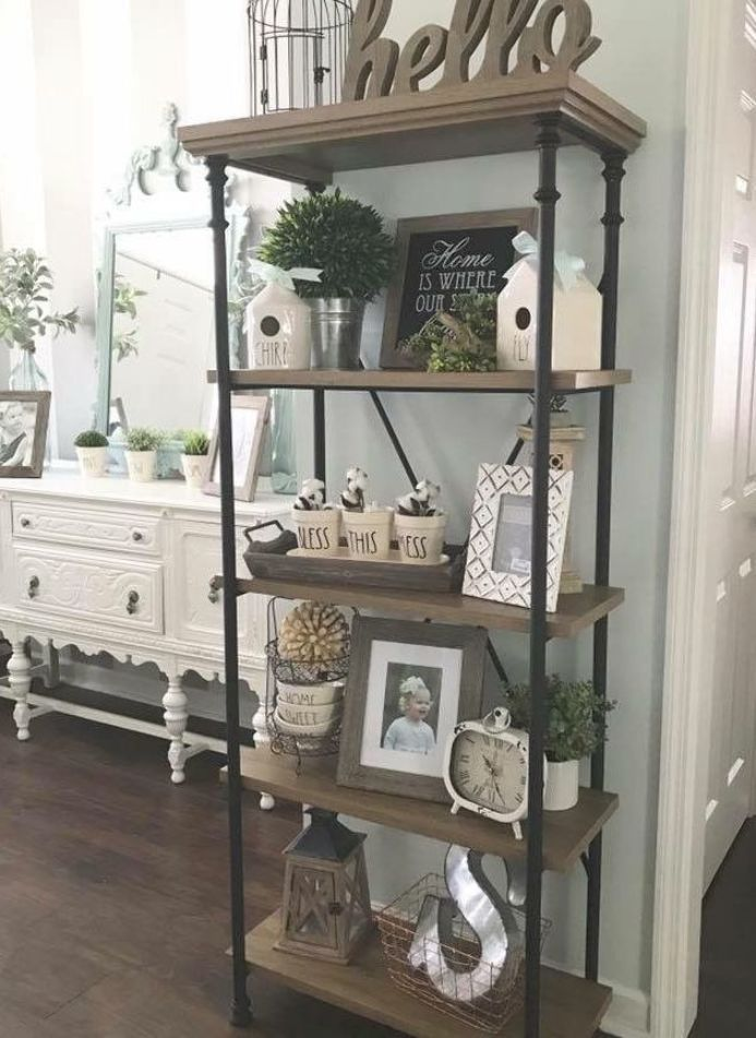 Love the Bless This Mess pottery on the shelf. I forgot that phrase and I - Shelf Bookcase - Ideas of Shelf Bookcase #ShelfBookcase - Love the Bless This Mess pottery on the shelf. I forgot that phrase and I would have loved to hang it over the fireplace