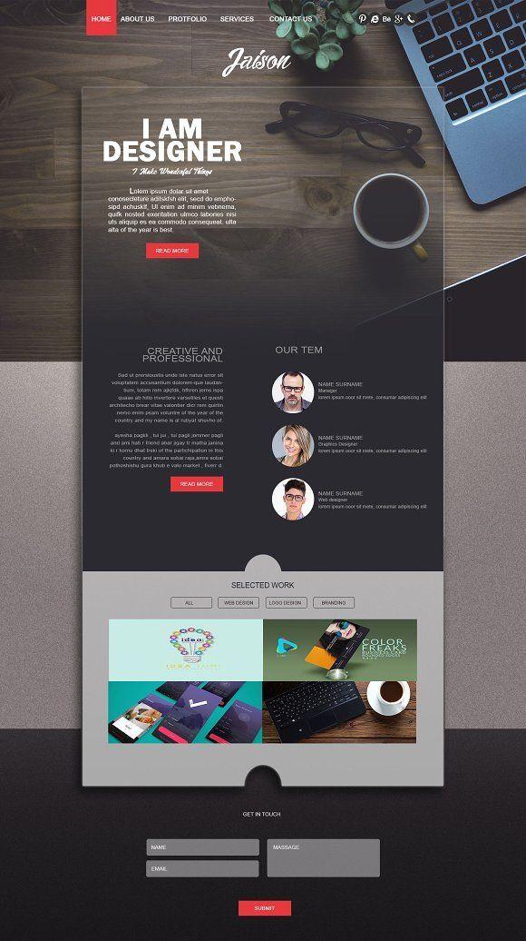 Creative Webpage Design By Rubyat Shuvho Photo Shop On Creative Market In 2020 Portfolio Website Design Webpage Design Layout Portfolio Web Design