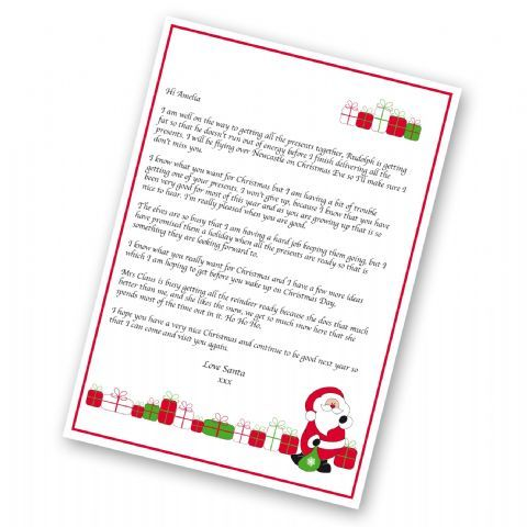Personalised Santa Letter  Christmas Eve Gifts