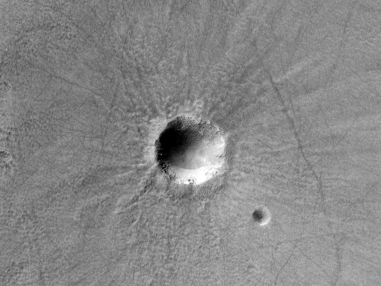 Dos cráteres de impacto