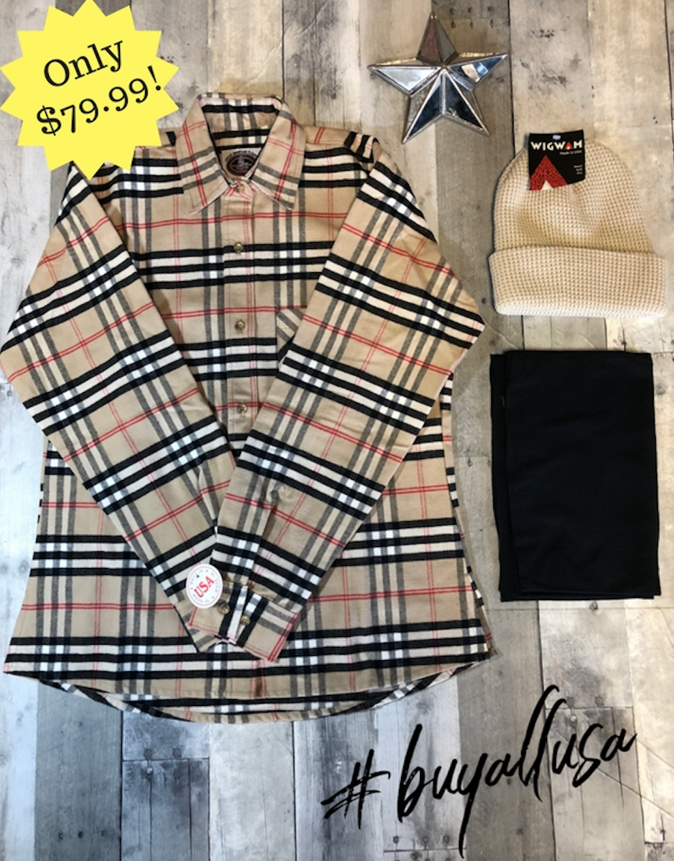 All-new Burberry Style Gift Set for Women! Flannel shirt fd89b00b30